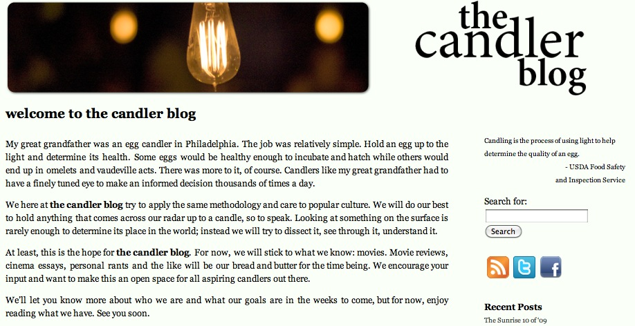 the candler blog in 2009