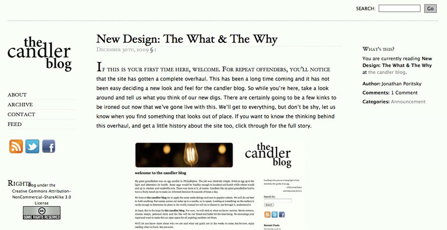 the candler blog in 2010