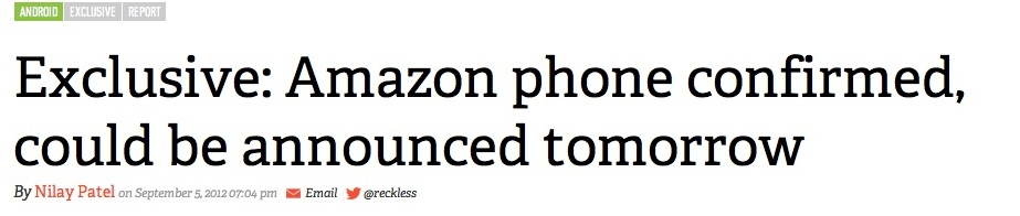 "The Amazon Phone ""Exclusive"""